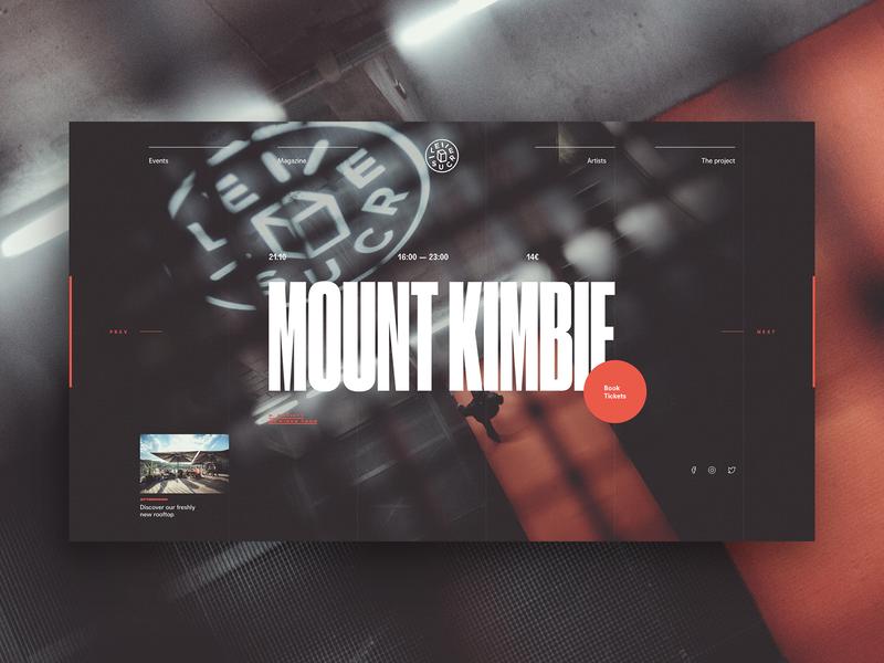 Nonsense 03 lyon sucre music club night club ui typography fullscreen dark minimal grid webdesign concept