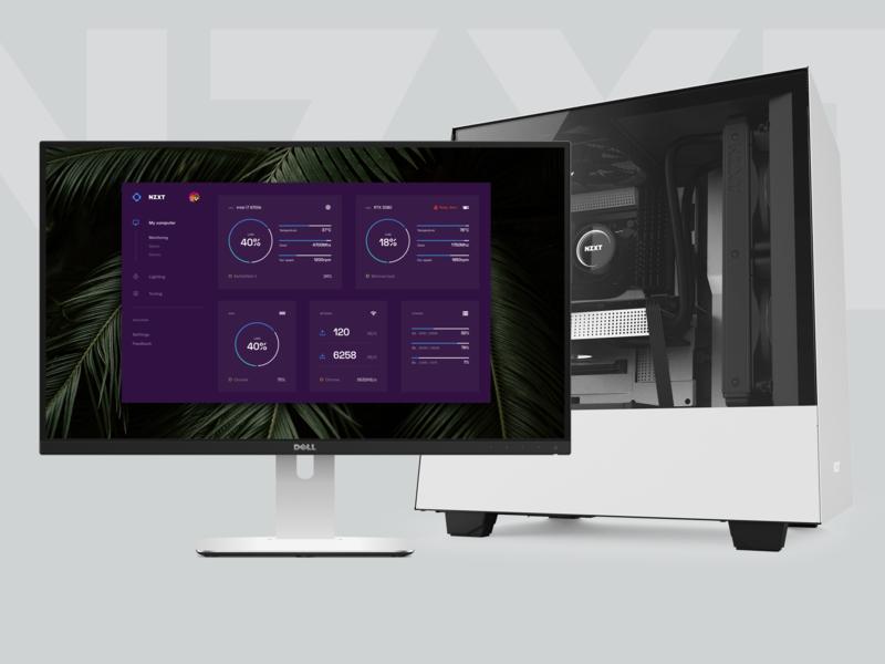 NZXT Cam refresh material desktop pc gpu cpu re-brand gaming monitoring dashboard user-interface refresh redesign cam nzxt