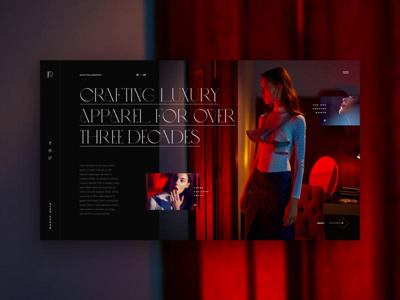 Crafting Luxury craft branding luxury brand bold woman red dark concept fullscreen typogaphy fashion crafting luxury