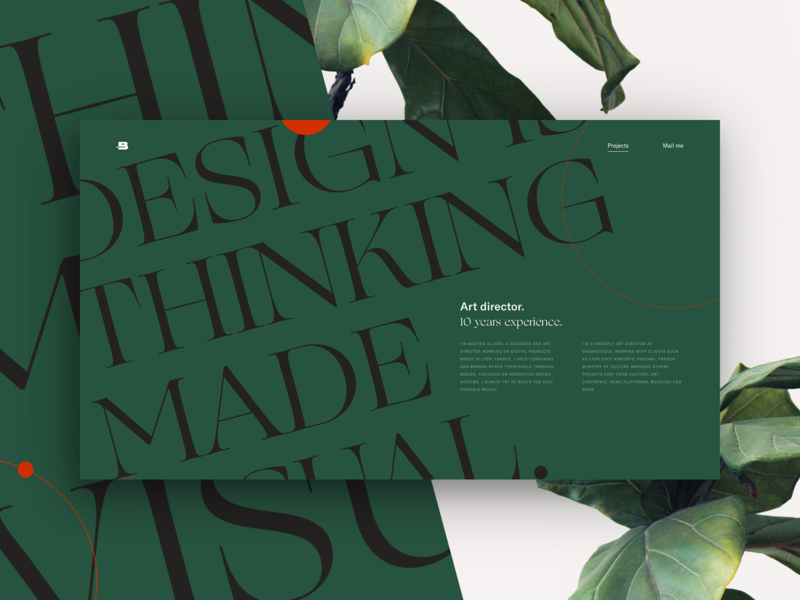 Thinking made visual. — Personal folio concept