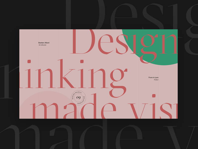Thinking made visual. — Alternative version. flat green webdesign ux typography branding vector ui design colors lyon fullscreen minimal grid concept