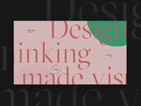 Thinking made visual. — Alternative version.