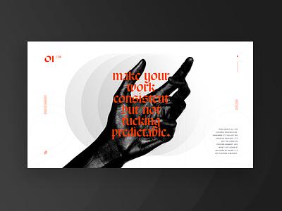 Consistent. ux branding vector typo flat ui design typography lyon dark colors poster fullscreen webdesign grid minimal concept