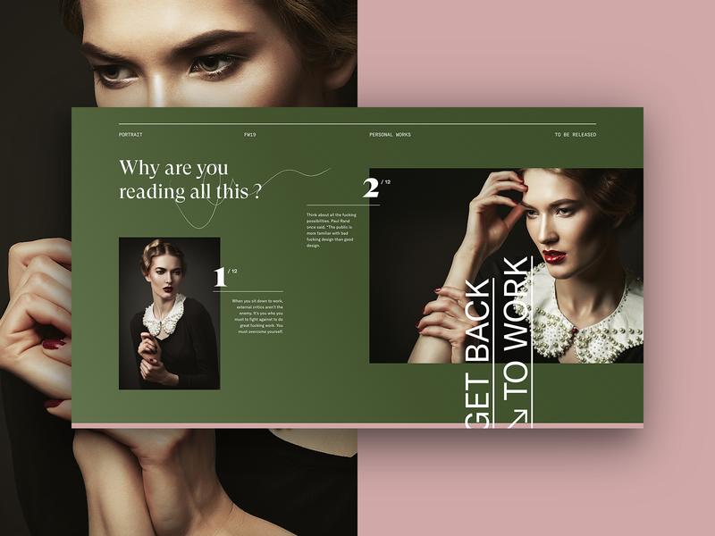 Classic grid. ux vector branding green typo flat ui design typography lyon colors fullscreen webdesign grid minimal concept