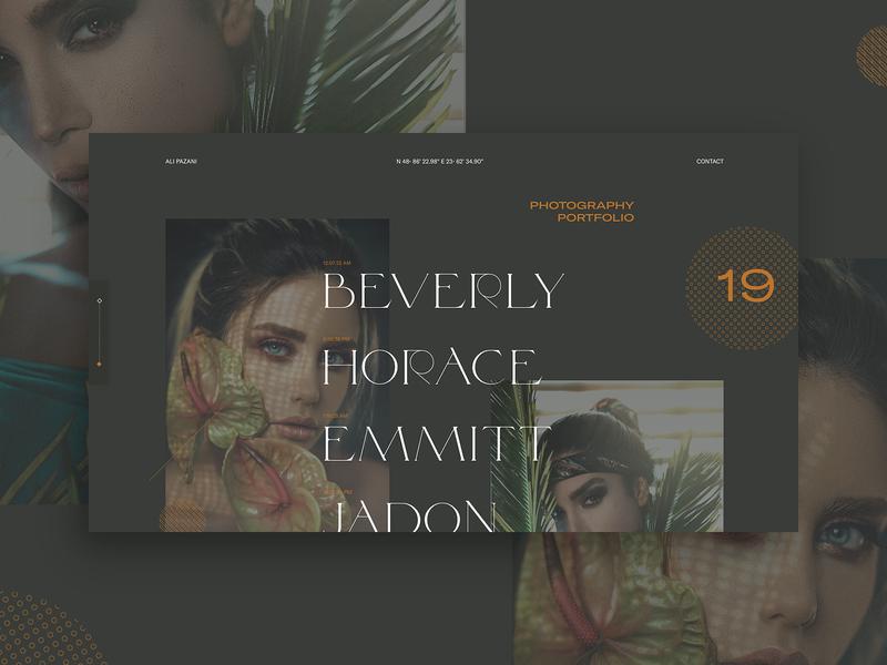 Photography Portfolio vector branding ux green typo flat ui typography lyon design dark colors fullscreen webdesign grid minimal concept