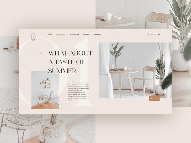 What About a Taste of Summer typo flat ui branding vector logo lyon typography design webdesign grid minimal concept simple interior design summer camp