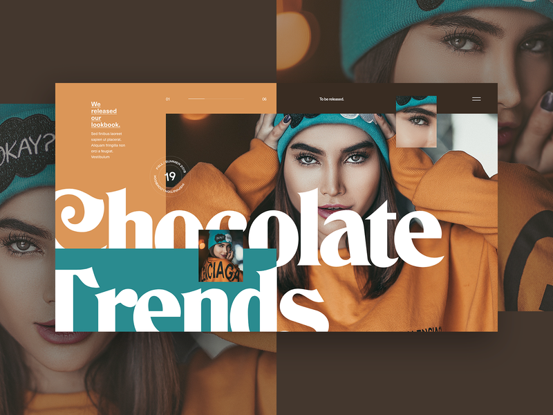 Chocolate Trends design lookbook fashion vector branding typo ui flat typography colors webdesign grid minimal concept