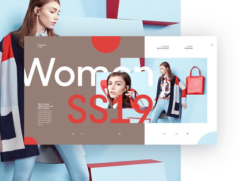 Exagram Lookbook colors ux fullscreen typography vector flat ui webdesign grid minimal concept branding design branding fashion lookbook