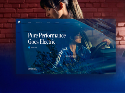BMW Electric Cars Landing Page