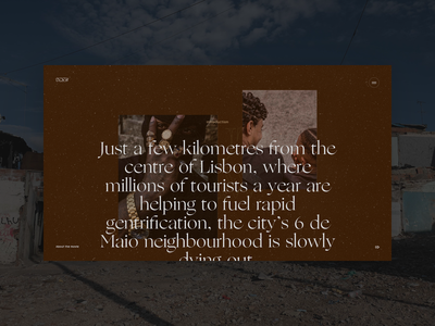 Out of Law — Introduction #2 editorial ecommerce vice lisbon documentary reportage experience immersive typo branding ui typography fullscreen webdesign grid minimal concept