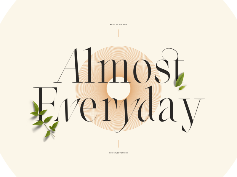 Almost Everyday illustration ux vector typo lyon colors branding ui typography fullscreen webdesign grid minimal concept