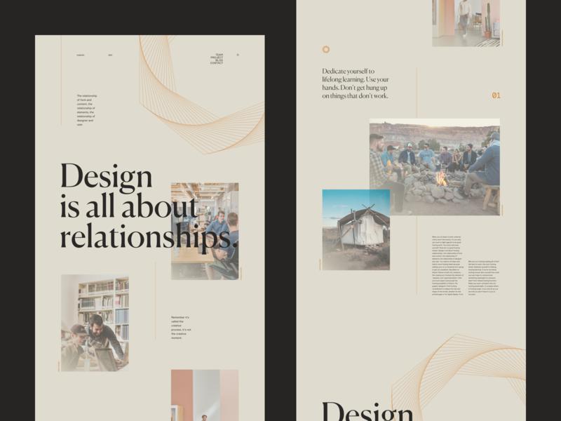 Design Relationships vector typo concept minimal grid webdesign typography ui branding flat lyon ux interface photo web