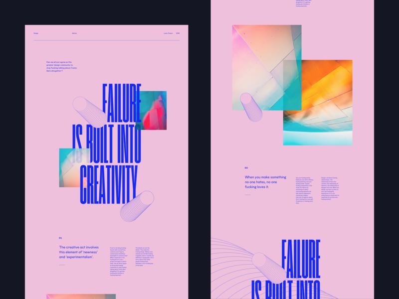 Failure Built colors web photo interface ux lyon flat branding ui typography webdesign grid minimal concept typo vector