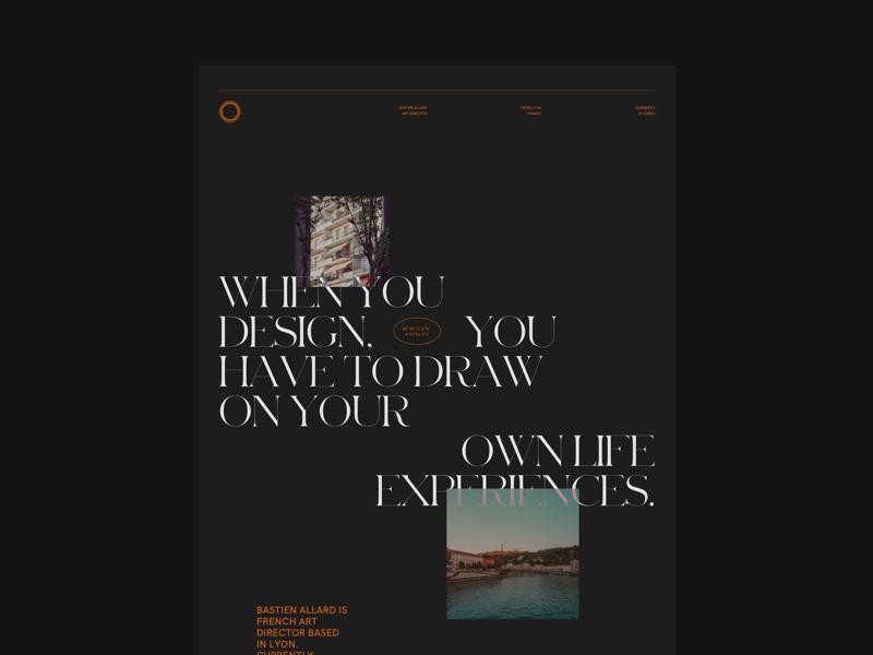 HEYO👋 lyon artdirector sans-serif serif minimal concept layout webdesign leavemealoneidothisforfun portfolio folio sketch
