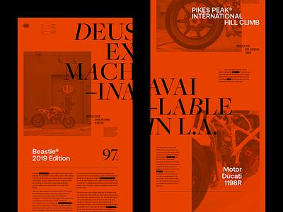 Deus Ex Machina — Beastie Concept deus-ex-machina motorcycle flat ui ux lyon branding grid minimal typography website webdesign web concept