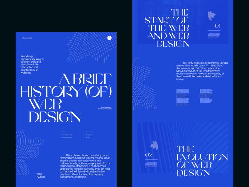 Webdesign Manifest website magazine editorial web print design exploration print design lyon colors flat ui typography grid webdesign minimal concept