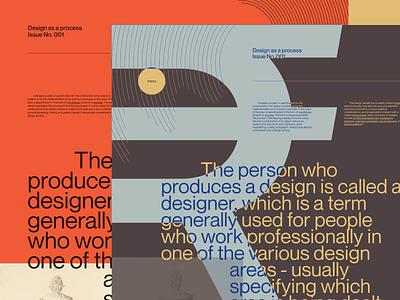 Design Process 001 experiment flat vector concept typography grid minimal magazine editorial minisite website webdesign teaser process design
