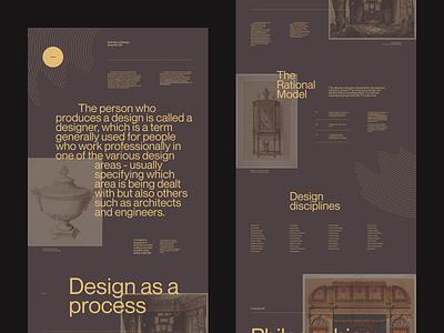 Def. of Design 001 pangrampangram wikipedia print website web article magazine editorial branding ui typography grid webdesign minimal concept