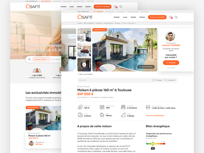 SAFTI Real Estate redesign concept ui  ux uidesign uxdesign redesign website design webdesign rentals renting realestate immobilier booking rental rent apartment real estate