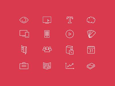 SENZO line icons icon set minimal icons line filaire webfont ui vector ios7 stroke web