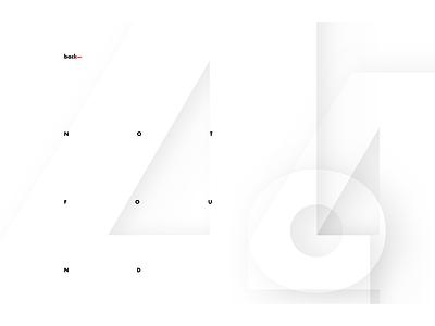 4o4 golden ratio futura typogaphy mnml 404 error page 404