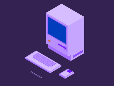 Mac128K free download simple illustration isometric