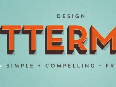 Design Betterment betterment equation type three dimensional simple compelling friction