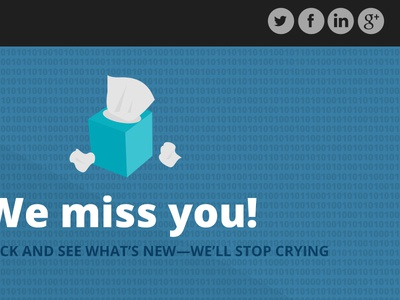 We Miss You Email