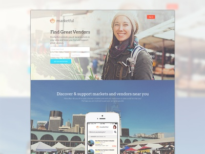 Marketful Marketing Page market farmers market marketing page local shopping vegetables app mobile mobile app social network vendor