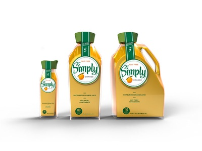Simply Orange Bottle Concepts product design packaging design