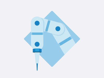 """""""Tech"""" Icon 3d printing west illustration icon robot tech"""
