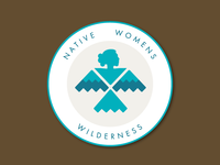 Native Women's Wilderness Patch navajo native logo patch