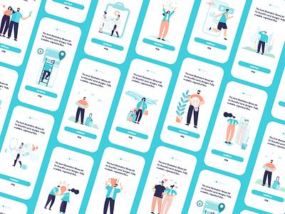 Illustrations kit women men celebration ux  ui sport travel love idea fitness health character vector illustration