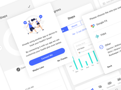 Sync app or device flow patient app syncing health device app sync illustration ui ux