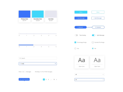 Design system elements xd design filters sliders color palette toggles radio buttons checkbox design kit component library component design component web platform ux ui design system