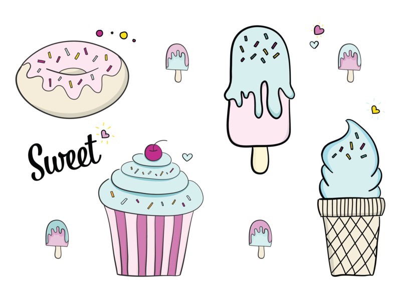 Sweet Illustrations design draw drawing flat sweet ipad pro illustrator draw adobe vector illustration