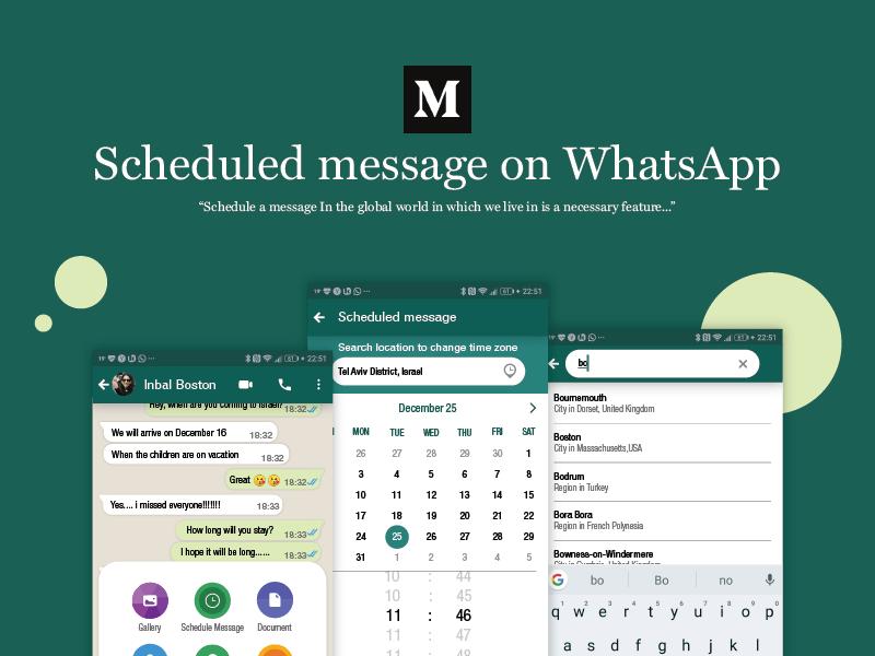 Scheduled Message On Whatsapp article medium messaging scheduled message whatsapp design app ux ui
