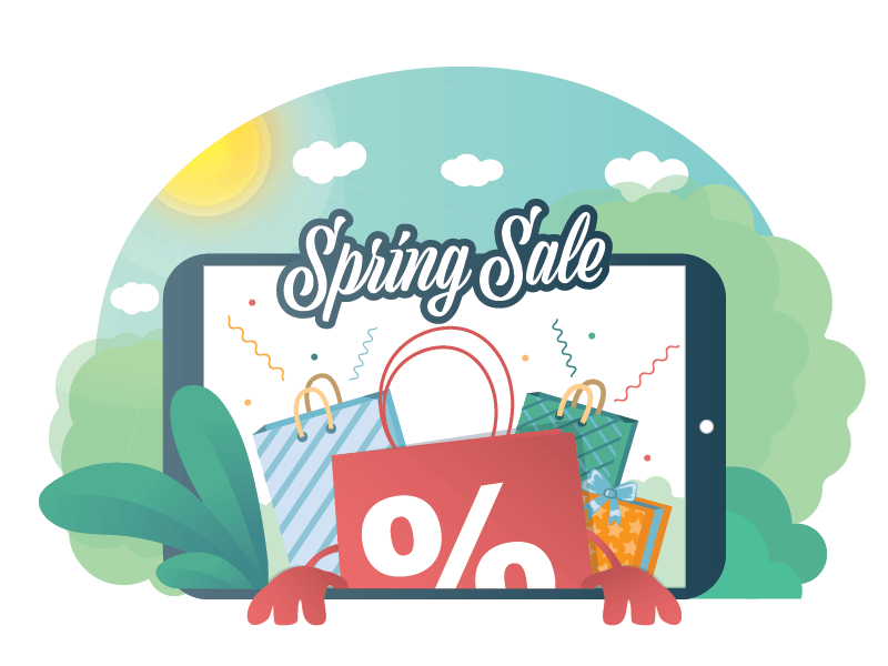 Spring Sale shopping spring sale spring sale design vector ux ui illustration