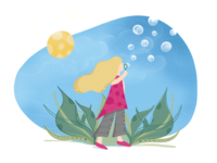 Nature Girl Illustration