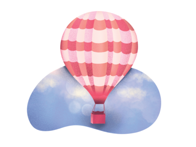 Hot Air Balloon sky hot air balloon procreate app ipad pro illustration