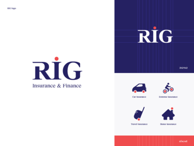 RIG branding illustration identity finance insurance icons icon branding vector logo