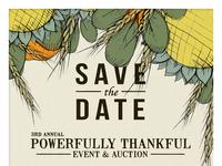 Powerfully Thankful Invitation
