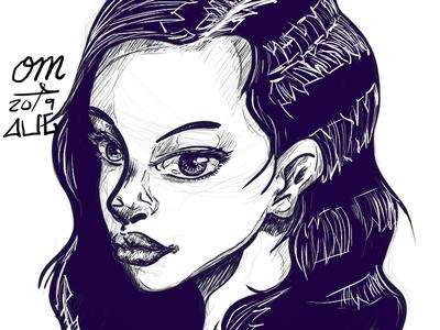 Random Portrait Sketch