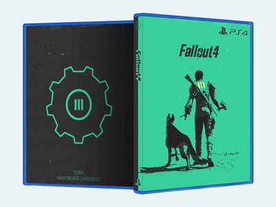 Custom Fallout 4 Cover (Printable) illustration print playstation xbox ps4 green dogmeat dog vault cover cover design fallout