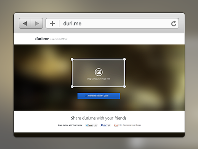 duri.me launched!! duri.me drag and drop drag drop generate base64 base 64
