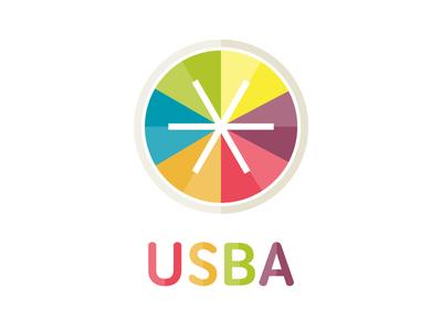 USBA Logo school board merry-go-round playful colorful school kids children
