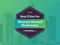 Best Cities for Women-Owned Businesses Badge