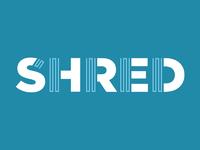 Shred dribbble blue