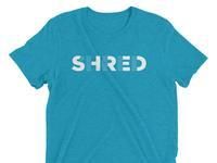 Shred shirt blue