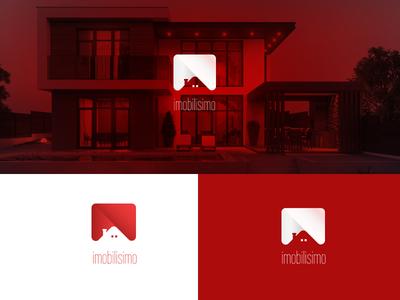 imobilissimo house logo house home real estate luxury logo apartament colors branding logo vector design
